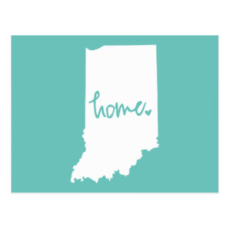 Home Indiana Custom Color Postcard