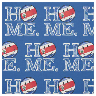 Home is Costa Rica Smiling flag Housewarming Fabric