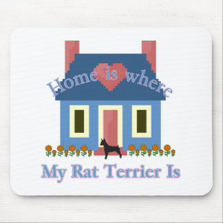 Home Is Rat Terrier Mouse Pad