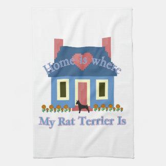 Home Is Rat Terrier Tea Towel