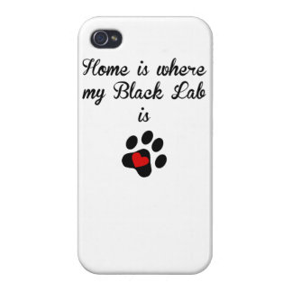 Home Is Where My Black Lab Is iPhone 4 Covers