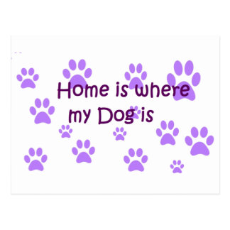 Home Is Where My Dog Is Postcard
