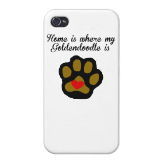 Home Is Where My Goldendoodle Is iPhone 4/4S Covers