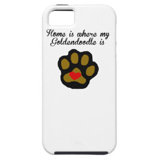 Home Is Where My Goldendoodle Is iPhone 5 Covers
