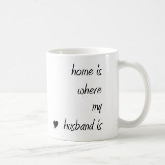 Home is where my husband is Mug