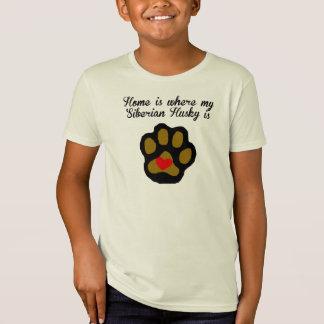 Home Is Where My Siberian Husky Is T Shirt