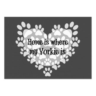 Home is where my Yorkie is Quote Business Cards