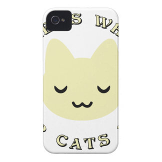 HOME IS WHERE OUR CATS NAP iPhone 4 CASES
