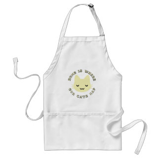 HOME IS WHERE OUR CATS NAP STANDARD APRON