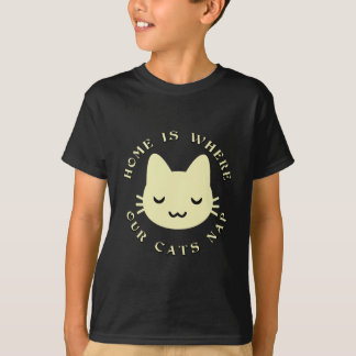 HOME IS WHERE OUR CATS NAP T-Shirt