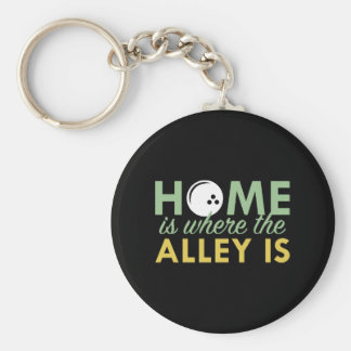 Home Is Where The Alley Is Basic Round Button Key Ring