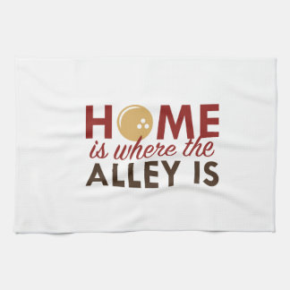 Home Is Where The Alley Is Tea Towel