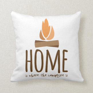 Home Is Where the Campfire Is Cushion