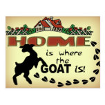 HOME IS WHERE THE GOAT IS POSTCARD