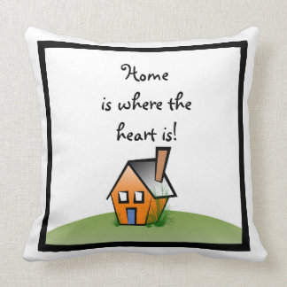 home is where the hear is pillow