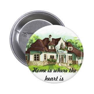Home is where the heart is pinback buttons