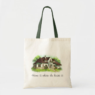 Home is where the heart is tote bags