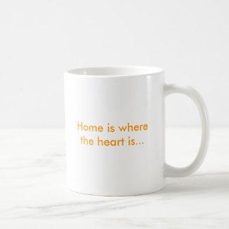Home is where the heart is... basic white mug