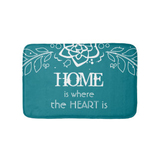 Home is Where the Heart is Bath Mats