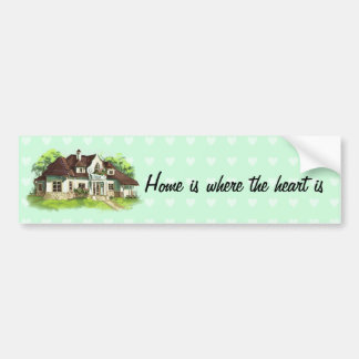 Home is where the heart is bumper sticker
