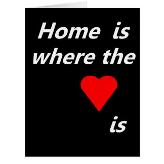 Home is where the heart is big greeting card