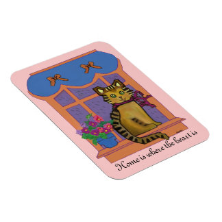 Home is where the heart is Cat Premium Magnet