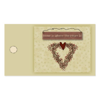 Home Is Where The Heart Is Hang Tag Double-Sided Standard Business Cards (Pack Of 100)