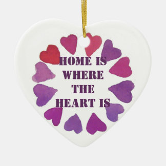 home is where the heart is heart pendent ornaments