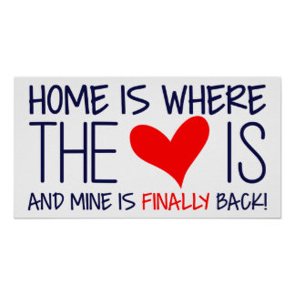 HOME IS WHERE THE HEART IS | HOMECOMING SIGN POSTER