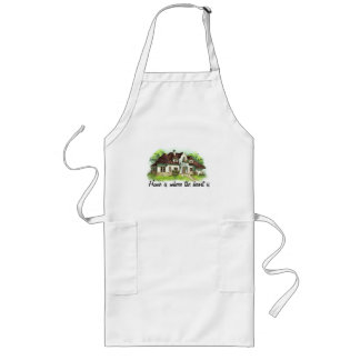 Home is where the heart is long apron