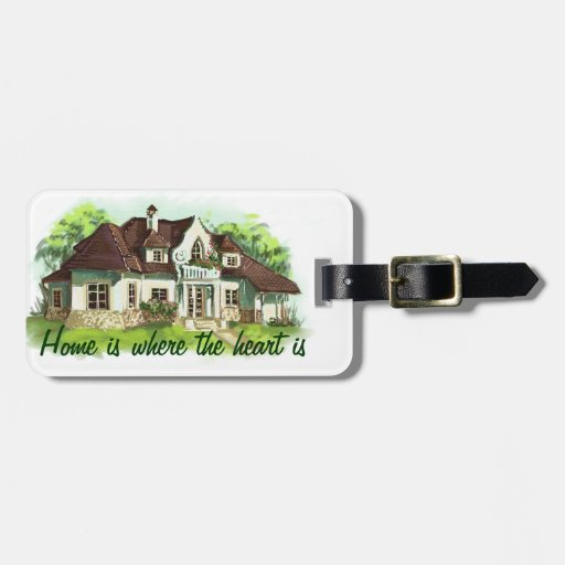 Home is where the heart is tags for luggage