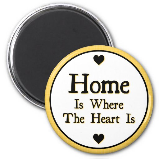 Home is Where the Heart is Fridge Magnet