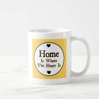 Home is Where the Heart is Coffee Mugs