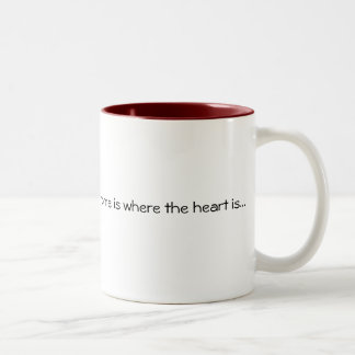 Home is where the heart is... Two-Tone mug