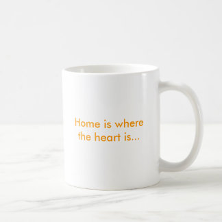 Home is where the heart is... classic white coffee mug