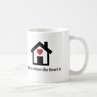 Home is where the heart is classic white coffee mug