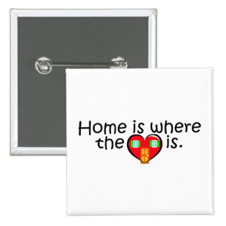 Home Is Where The Heart Is Pinback Button