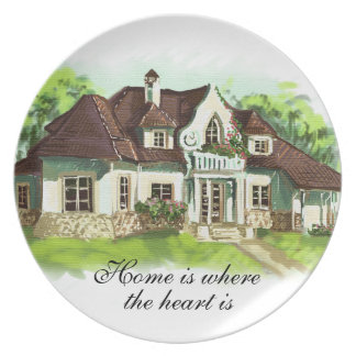 Home is where the heart is dinner plate