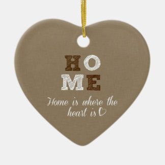 Home is where the Heart is Quote Ceramic Heart Decoration