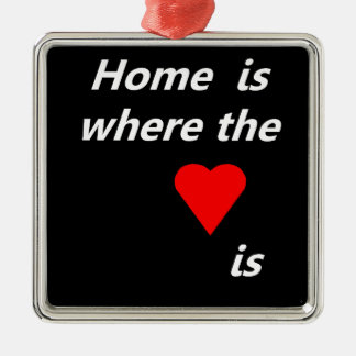 Home is where the heart is Silver-Colored square decoration