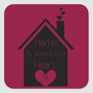 Home is Where the Heart is Square Sticker
