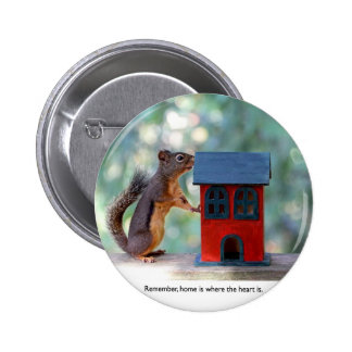 Home is Where the Heart Is Squirrel Buttons