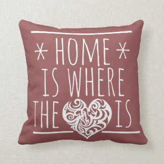 Home is Where the Heart is Throw Cushions