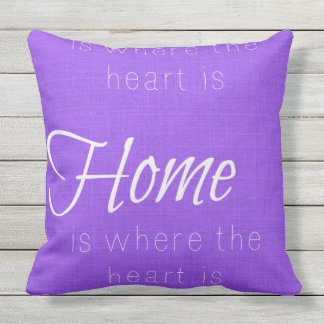 "Home is where the heart is Throw Pillow 20"" x 20"" Cushion"