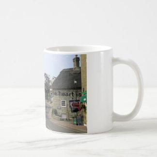 Home is where the heart is white coffee mug