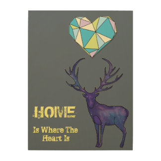 Home is Where the Heart is Wood Canvases