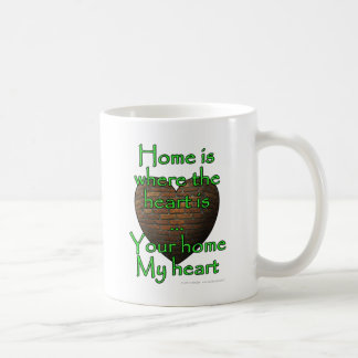 Home is where the heart is...Your home My heart Basic White Mug