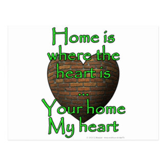 Home is where the heart is...Your home My heart Postcard