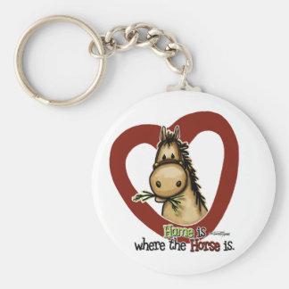 Home is where the Horse is Basic Round Button Key Ring