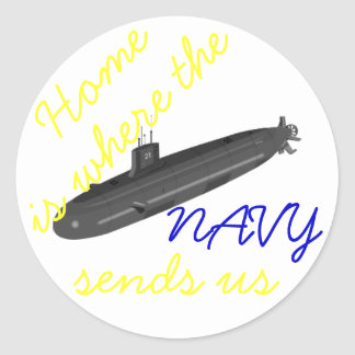 home is where the navy sends us subarine stickers